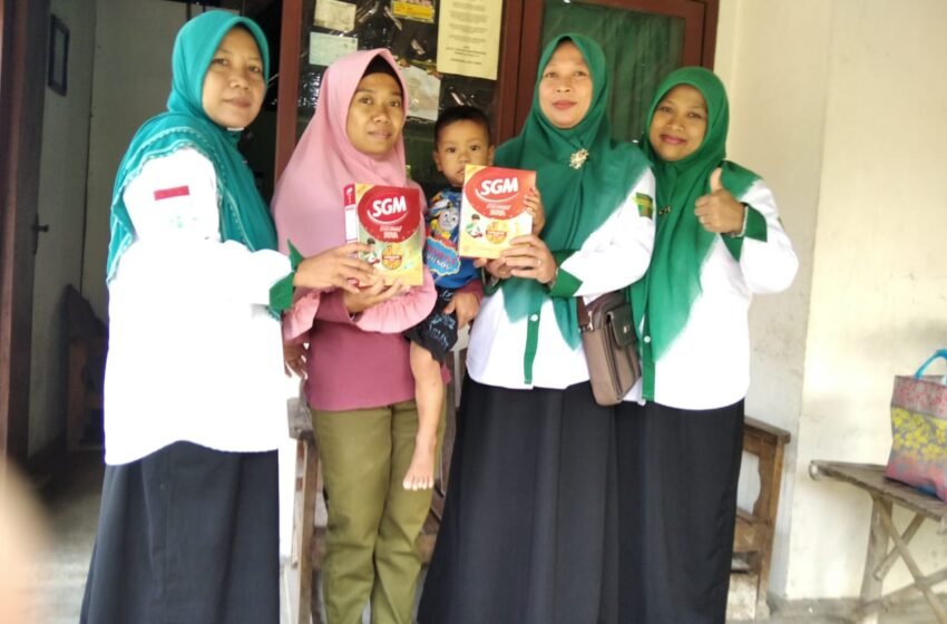 Upaya Gerakan Koin NU Peduli Desa Balongasem Cegah Stunting