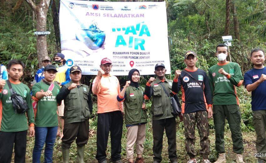 Jaga Sumber Mata Air, LPBI NU Nganjuk Gelar Aksi Tanam 1000 Pohon