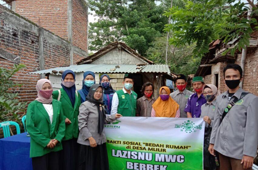 LAZISNU Berbek Realisasikan Program Bedah Rumah Warga Tak Layak Huni