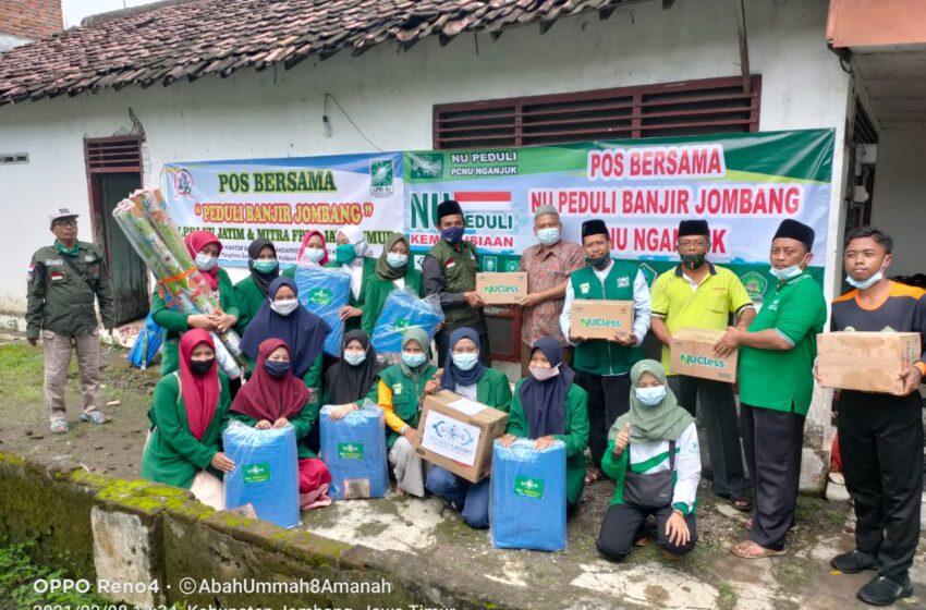 PCNU Nganjuk Serahkan Bantuan untuk Korban Banjir di Bandarkedungmulyo