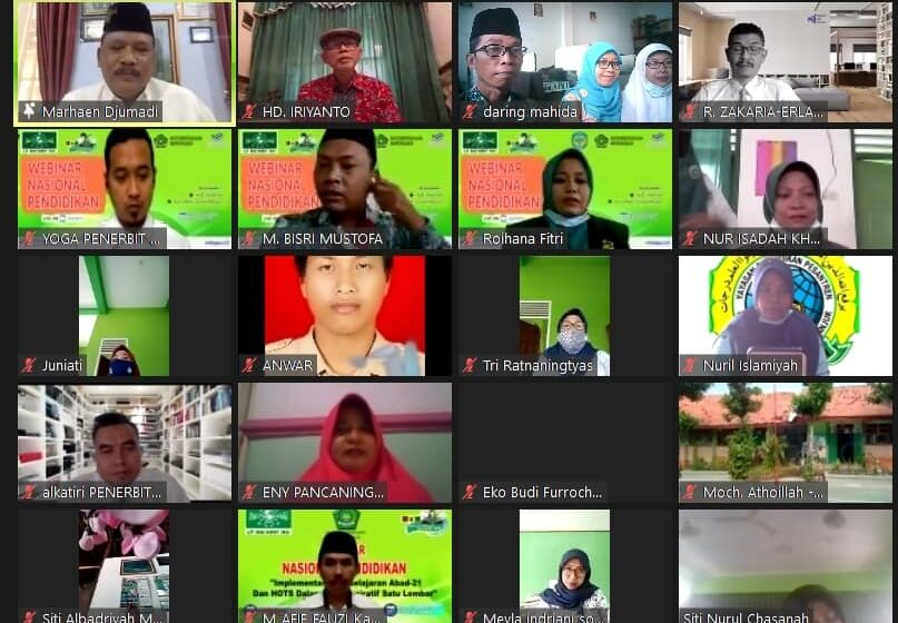 Webinar Nasional, LP Ma'arif NU Nganjuk Bahas Moderasi Pendidikan Aswaja