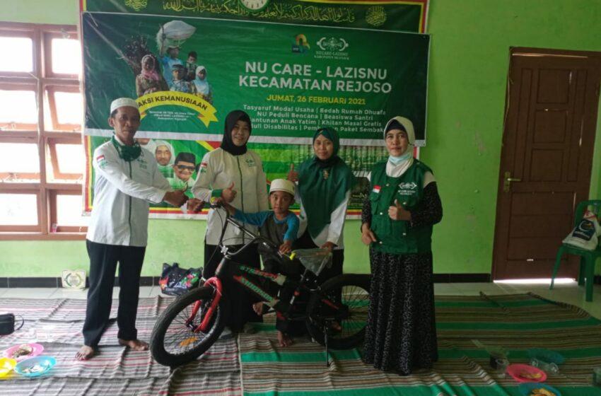 LAZISNU Rejoso Luncurkan Program Sepeda Sekolah Yatim