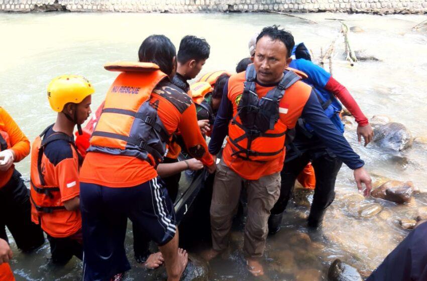 Tim Bagana Nganjuk Berhasil Temukan Bocah SMP yang Tenggelam di Dam Brebek